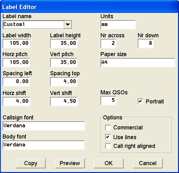 Label Formats for A4 Paper Size